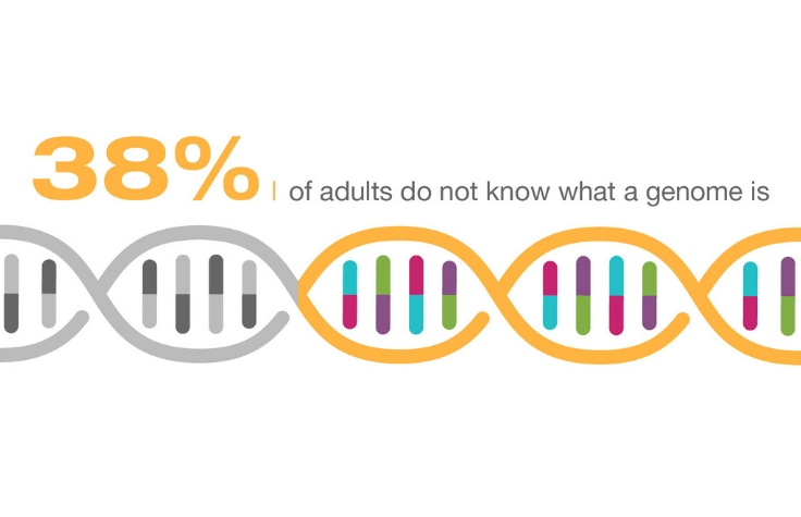 38% of adults do not know what a genome is
